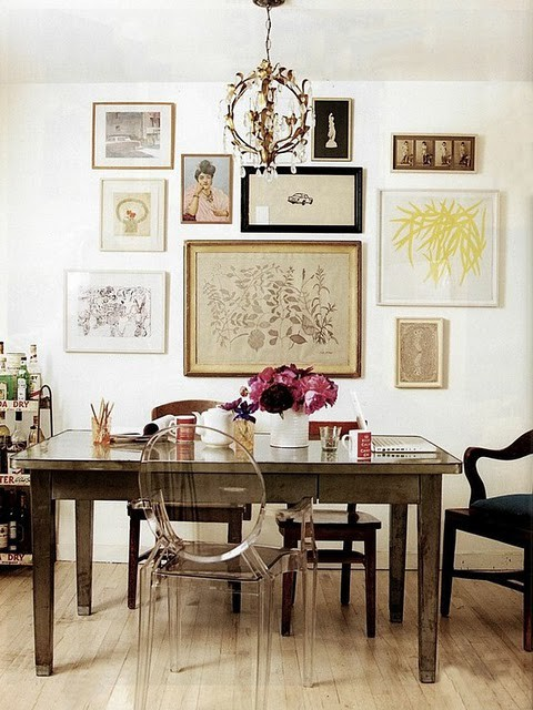 ghost-chair-vintage-dining-desk-gallery-wall