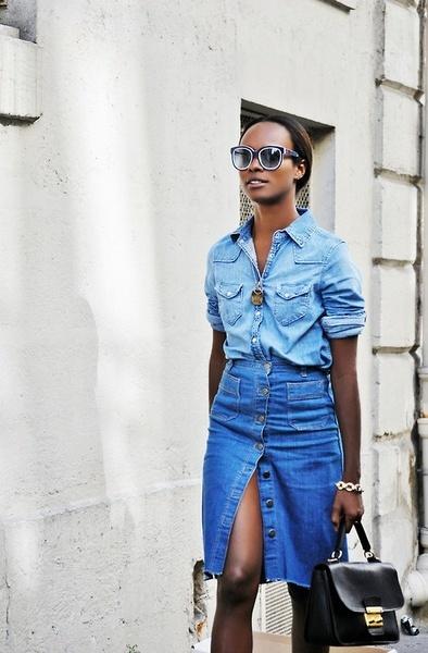 Desejo do dia  Saia jeans lápis da China 5976f04ebc4